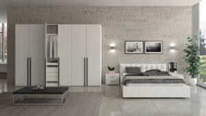 Weißer Schrank mit Bett von Jutzler