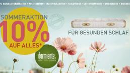 10% Nachlass auf Dormiente Produkte